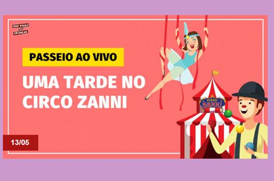 Veja a live do Zanni no SP para crianças – premiada plataforma digital