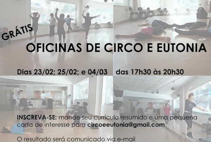 Oficinas de Circo e Eutonia para restabelecer tônus muscular e energia corporal na plataforma Zoom